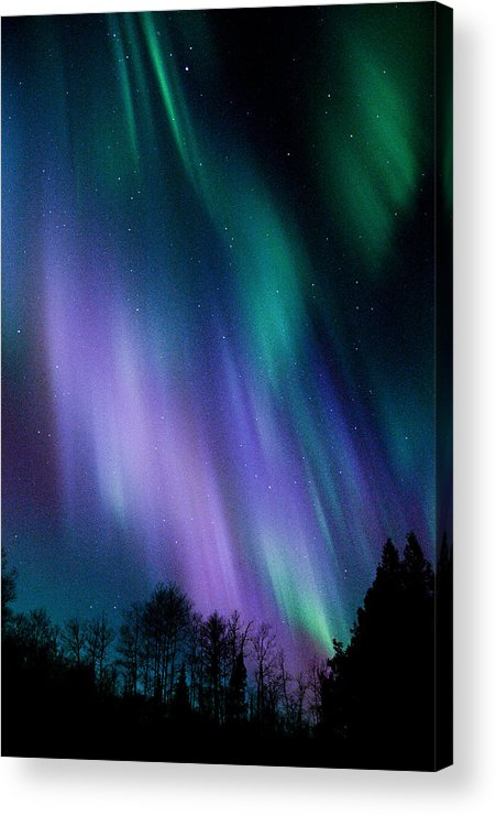 Aurora Borealis Acrylic Print featuring the photograph Minnesota Blues by Marie Fierek