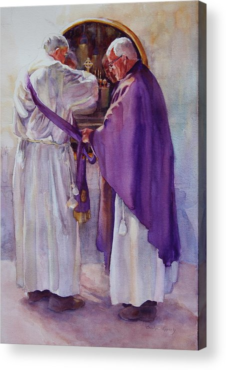Figure Acrylic Print featuring the painting Mirroring Faith by Carolyn Epperly