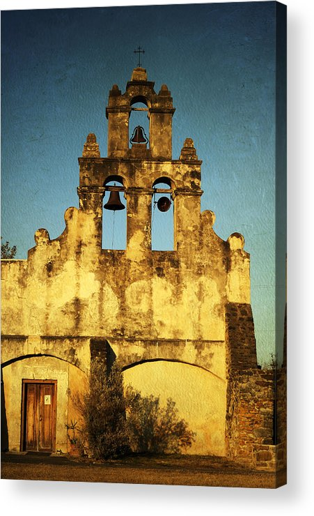 Mission Acrylic Print featuring the photograph Mission San Juan by Iris Greenwell