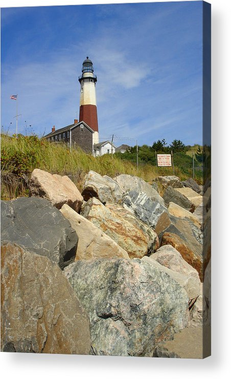 Montauk Acrylic Print featuring the photograph Montauk Lighthouse 2 by Michael Simeone
