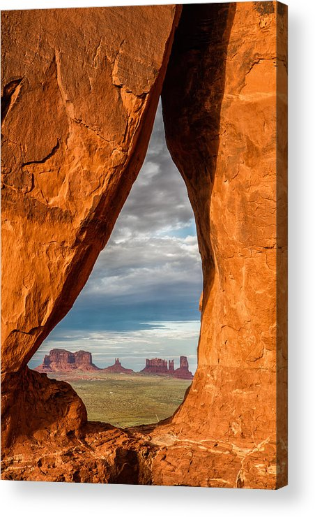 Landscape Acrylic Print featuring the photograph Monument Teardop by Steven Hirsch