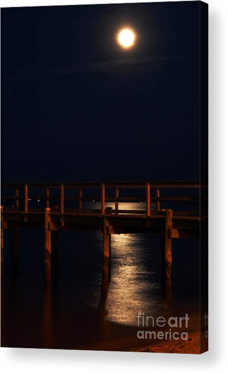 Clay Acrylic Print featuring the photograph Moonlight On Water by Clayton Bruster