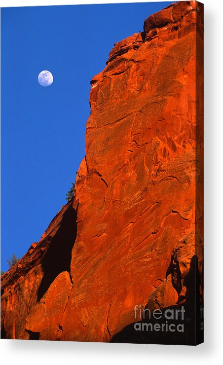 Full Moon Acrylic Print featuring the photograph Moonrise In Grand Staircase Escalante by Sandra Bronstein