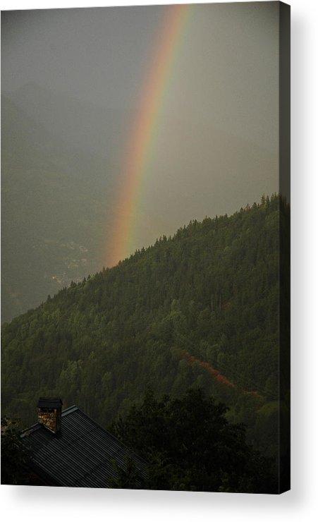 Mountains Acrylic Print featuring the photograph Mountain Rainbow by Francois Dumas