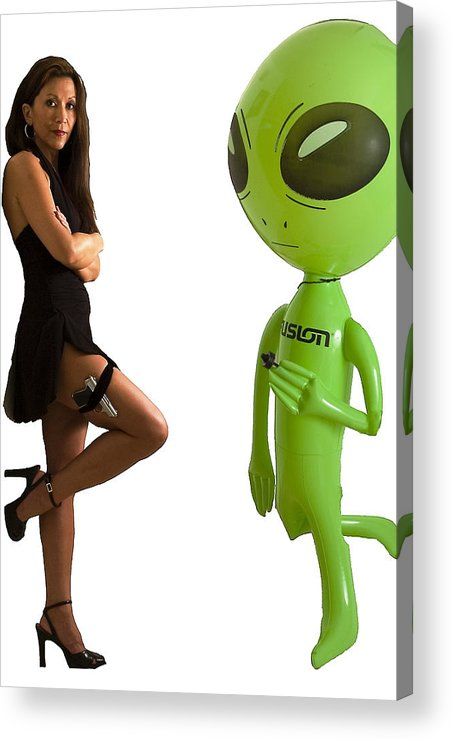 Model Acrylic Print featuring the photograph Mr. And Mrs Alien by Richard Henne