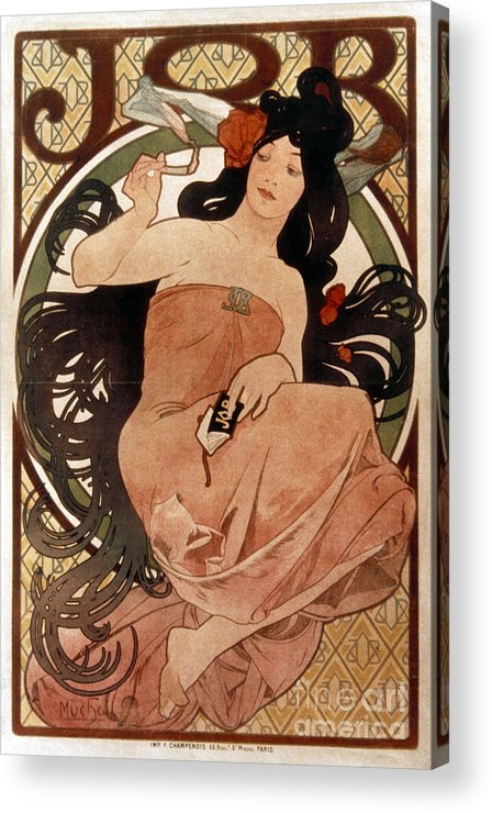 1898 Acrylic Print featuring the photograph Mucha: Cigarette Paper Ad by Granger