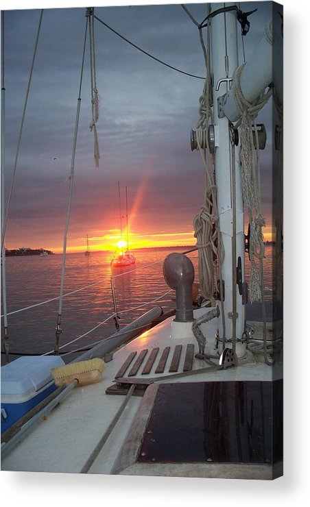 Sunrise Acrylic Print featuring the photograph My Front Yard by Danita Cole