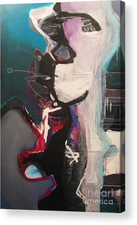 Abstract Art Paintings Acrylic Print featuring the painting Nagging Voice by Seon-Jeong Kim