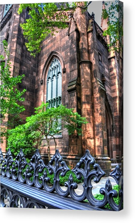 New York Acrylic Print featuring the photograph New York Church by Kelly Wade