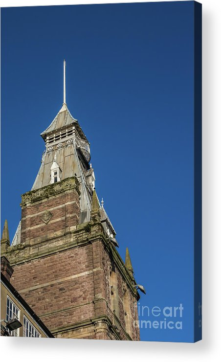 Newport Market Acrylic Print featuring the photograph Newport Market Tower by Steve Purnell