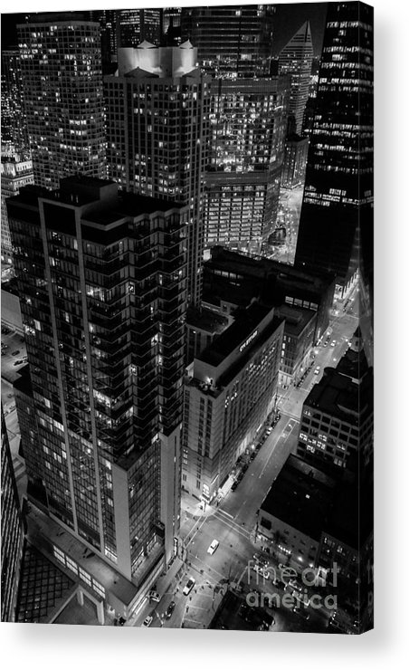 Chicago Acrylic Print featuring the photograph Night Lights by Ryan Ware