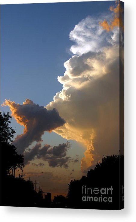Landscape Acrylic Print featuring the photograph Nightly Storm by Steve Augustin