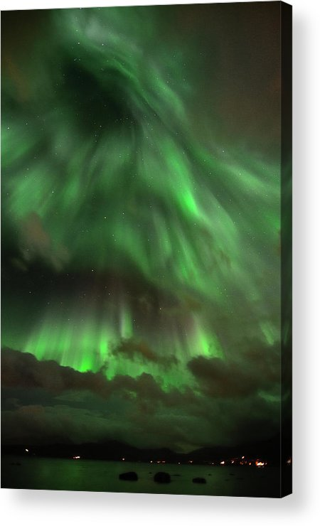Vertical Acrylic Print featuring the photograph Nightsky by John Hemmingsen