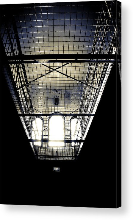 Sign Acrylic Print featuring the photograph No Exit by Kelly Jade King