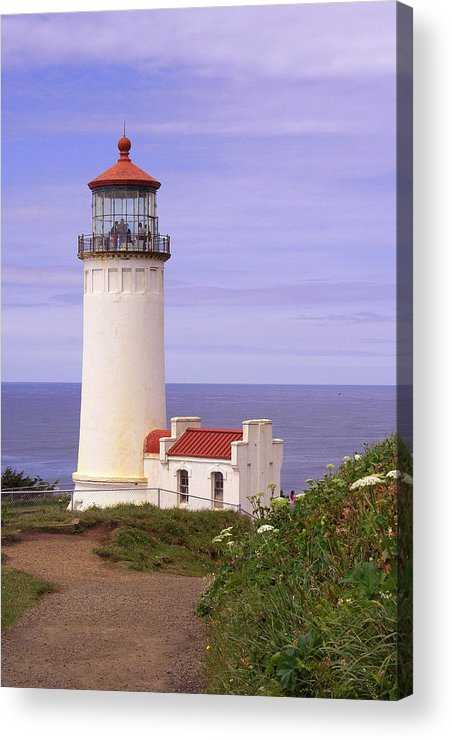 Lighthouse Acrylic Print featuring the photograph North Head Lighthouse Li 2000 by Mary Gaines