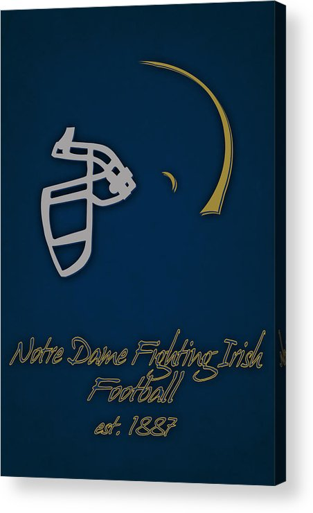 Notre Dame Fighting Irish Acrylic Print featuring the photograph Notre Dame Fighting Irish Helmet by Joe Hamilton