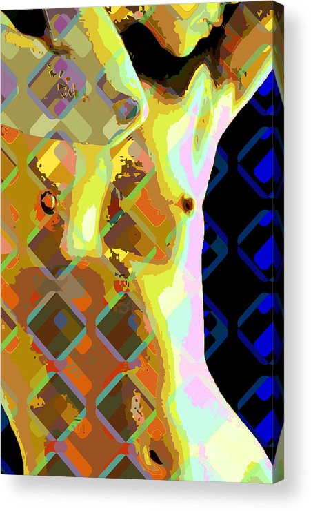 Nude Acrylic Print featuring the digital art Nude 1a by Scott Davis