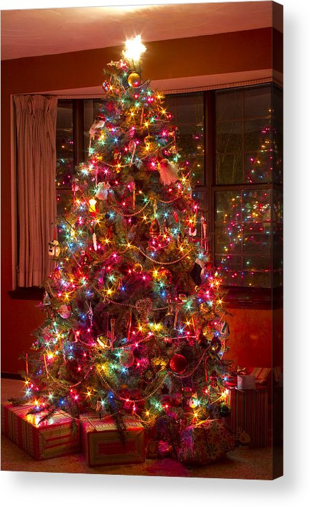 Christmas Tree Acrylic Print featuring the photograph O Christmast Tree by James BO Insogna