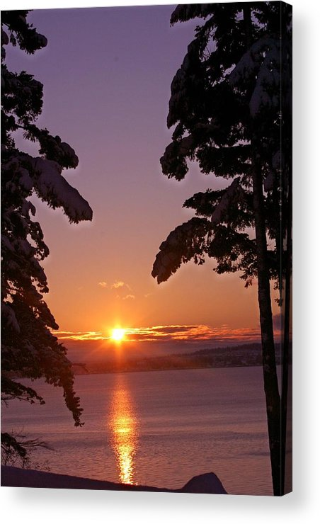 Sunrise Acrylic Print featuring the photograph Oak Harbor Sunrise II Sr 2002 by Mary Gaines