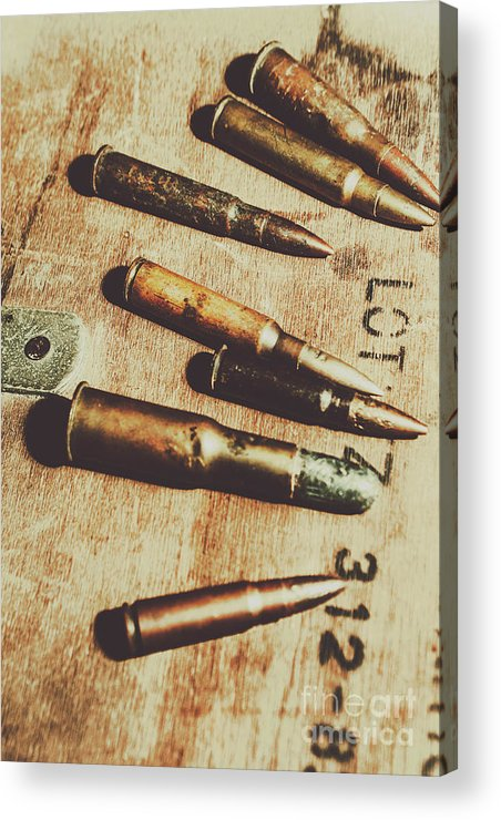 Army Acrylic Print featuring the photograph Old Ammunition by Jorgo Photography - Wall Art Gallery
