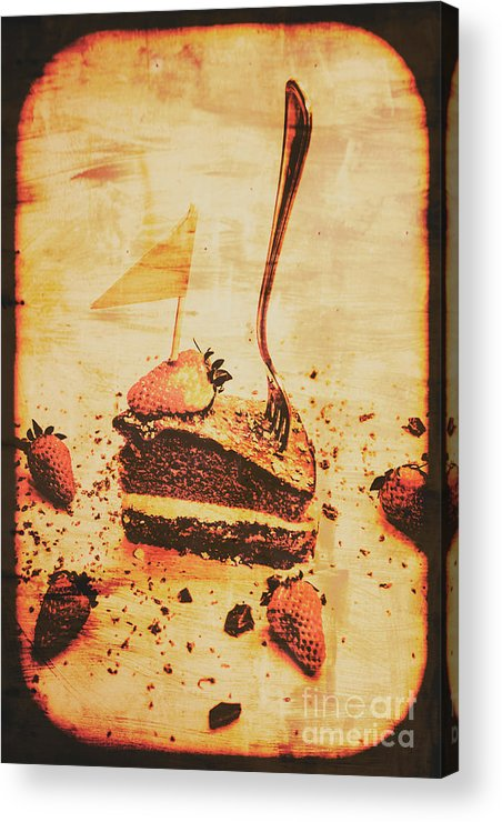 Vintage Acrylic Print featuring the photograph Old Cake Break by Jorgo Photography - Wall Art Gallery