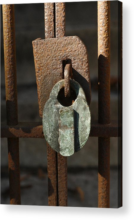 Rust Acrylic Print featuring the photograph Old Lock by David Houston