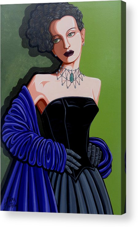 Portrait Acrylic Print featuring the painting Olivia by Tara Hutton