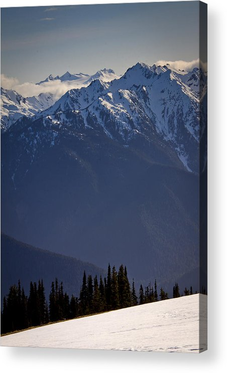 Olympic Mountains Acrylic Print featuring the photograph Olympic National Park by Albert Seger