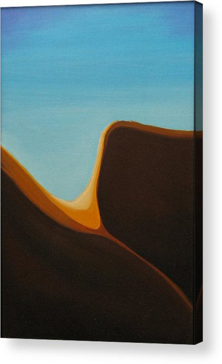 Landscape Acrylic Print featuring the painting Open by David McKee