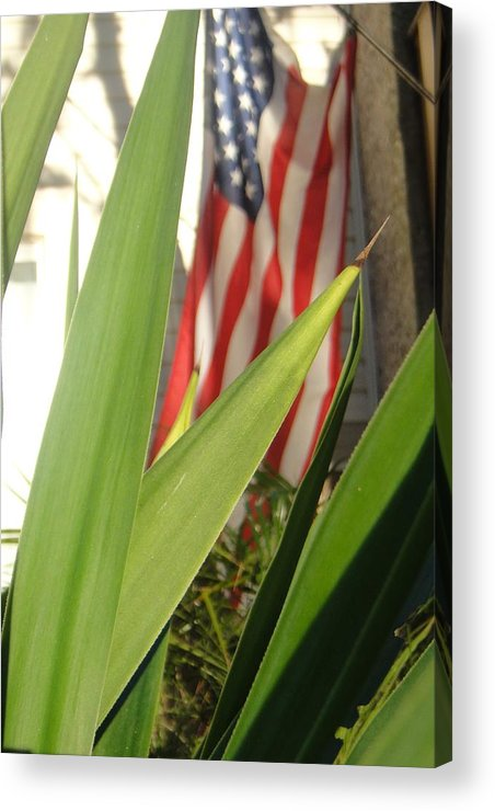 Flag Acrylic Print featuring the photograph Our Flag Was Still There by WaLdEmAr BoRrErO