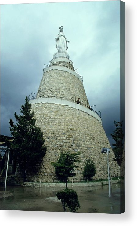 Beirut Acrylic Print featuring the photograph Our Lady Of Lebanon Statue In Harissa by Sami Sarkis