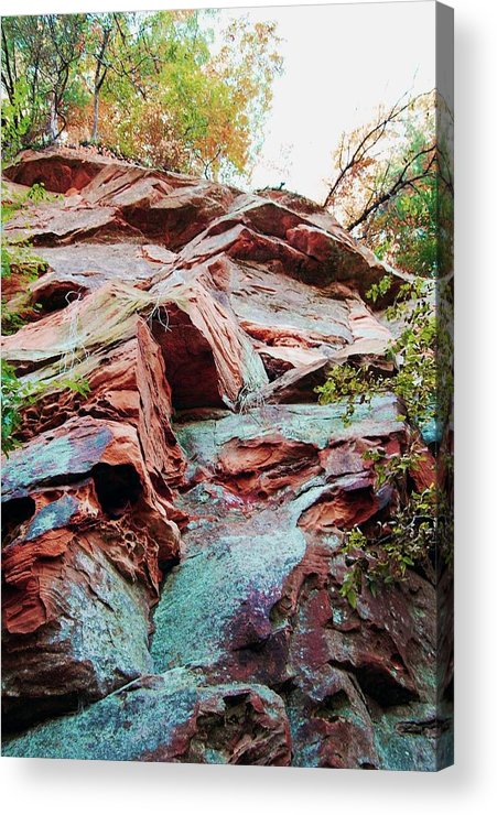 Sandstone Acrylic Print featuring the photograph Outcrop At Wildcat Den by Jame Hayes