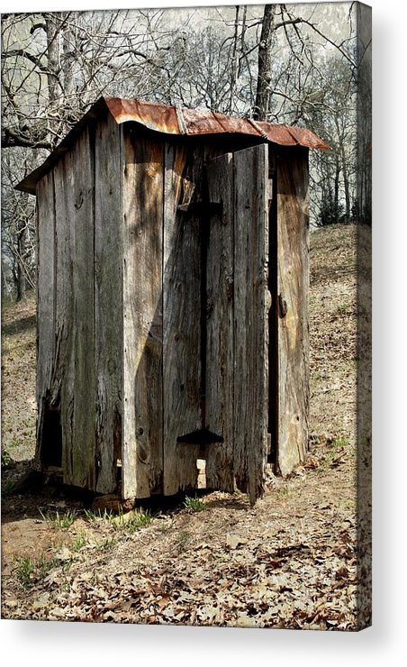 Outdoor Acrylic Print featuring the photograph Outhouse by Gayle Johnson