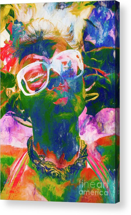 Drawing Acrylic Print featuring the painting Paint Splash Pinup Art by Jorgo Photography - Wall Art Gallery