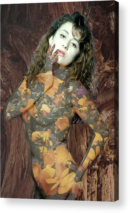 Model Acrylic Print featuring the photograph Painted Lady by Richard Henne