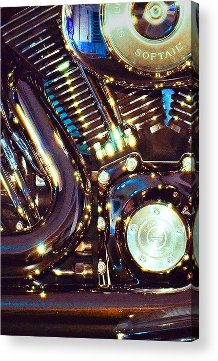 Harley Davidson Acrylic Print featuring the photograph Panel II From Mechanism by Steve Karol
