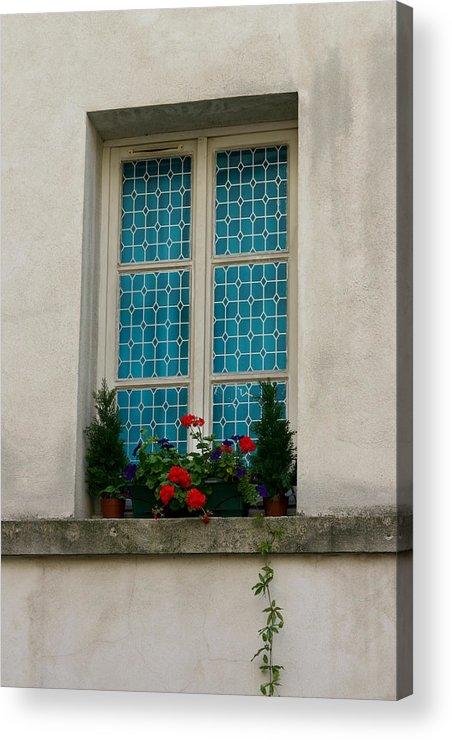 Acrylic Print featuring the photograph Paris - Window by Jennifer McDuffie