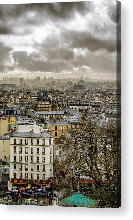 Basilica Acrylic Print featuring the photograph Paris As Seen From The Sacre-coeur by Pablo Lopez