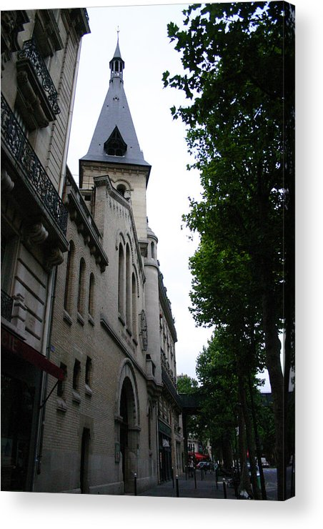 Acrylic Print featuring the photograph Paris Church 2 by Jennifer McDuffie