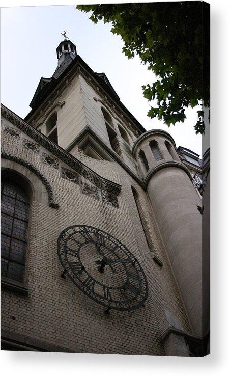 Acrylic Print featuring the photograph Paris Church by Jennifer McDuffie