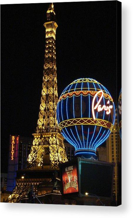 Paris Acrylic Print featuring the photograph Paris Las Vegas by Kimberly Hill