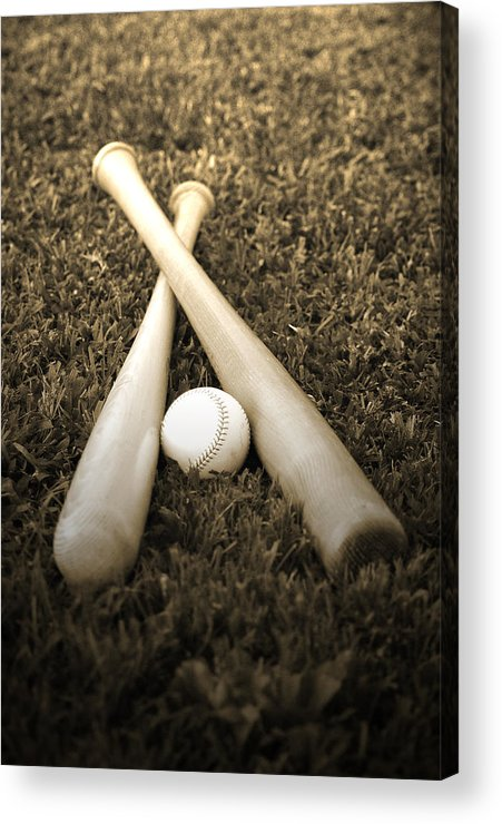 Baseball Acrylic Print featuring the photograph Pastime by Shawn Wood