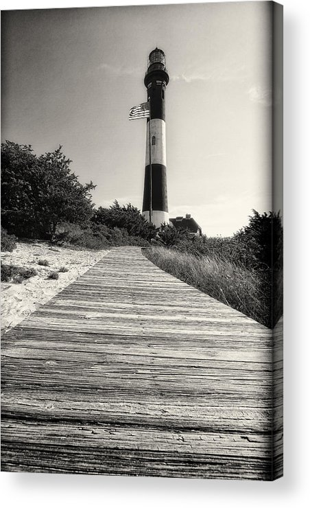 Robert Moses State Park Acrylic Print featuring the photograph Path To The Lighthouse by George Oze