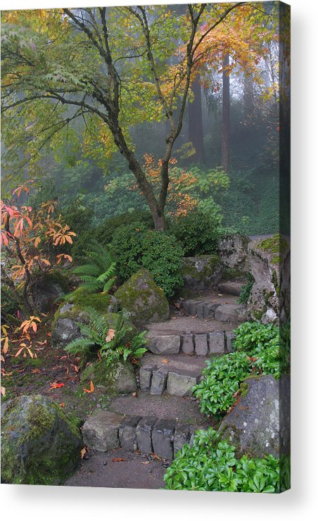 Pathway To Serenity Acrylic Print featuring the photograph Pathway To Serenity by Wes and Dotty Weber