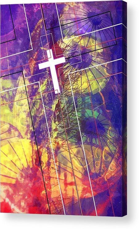 Jesus Acrylic Print featuring the digital art Patience by Payet Emmanuel