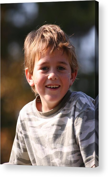 Acrylic Print featuring the photograph Patrick W by Lisa Johnston