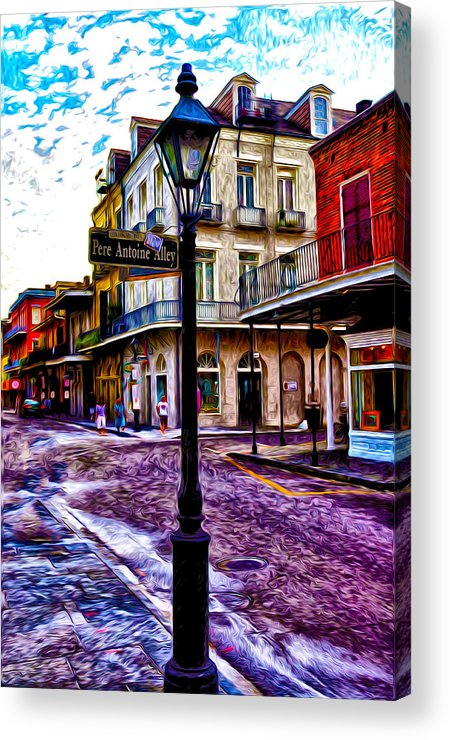 Pere Antoine Alley - New Orleans Acrylic Print featuring the photograph Pere Antoine Alley - New Orleans by Bill Cannon
