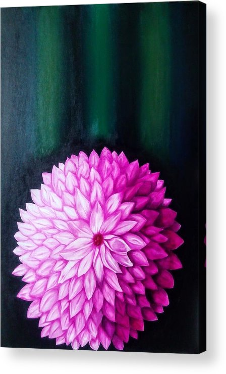 Flower Acrylic Print featuring the painting Perennial by Neena