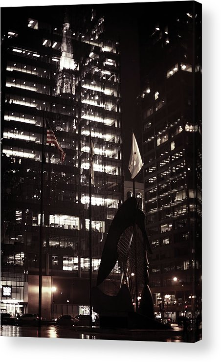 Acrylic Print featuring the photograph Picasso-lady by Sue Conwell