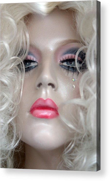 Jez C Self Acrylic Print featuring the photograph Pink Lips And Aloof by Jez C Self